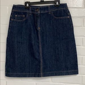 Boden Jean Skirt